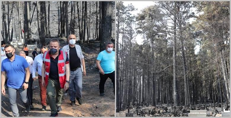 Yangında zarar görenlerin su borçları silindi