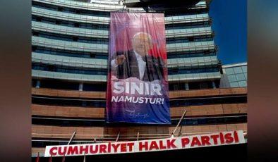 CHP'den 'Sınır Namustur' afişi…