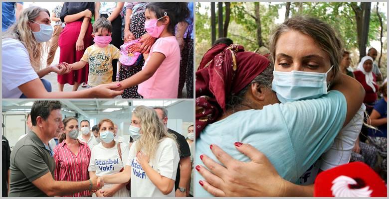 İstanbul Vakfı'nın yardım tırı afet bölgesinde