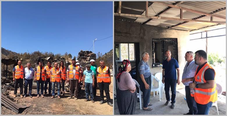 Kozan Belediyesi yangın alanında çalışmalarını sürdürüyor