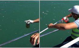 Mersin Atakent'te deniz kirliliği çalışmaları sürüyor