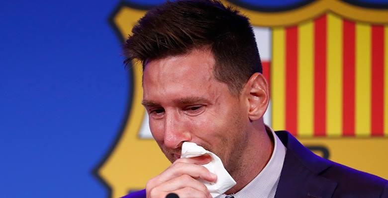 Messi gözyaşlarını tutamadı!
