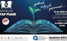 Antalya Kitap Fuarı 15 Ekim'de