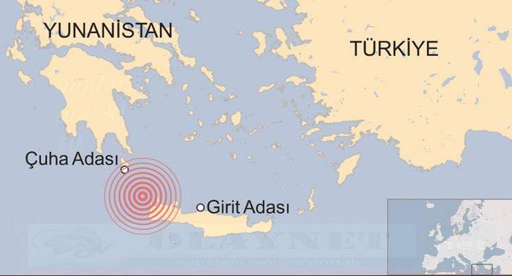 Girit Adası'nda deprem…