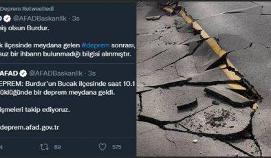 Burdur'da deprem…